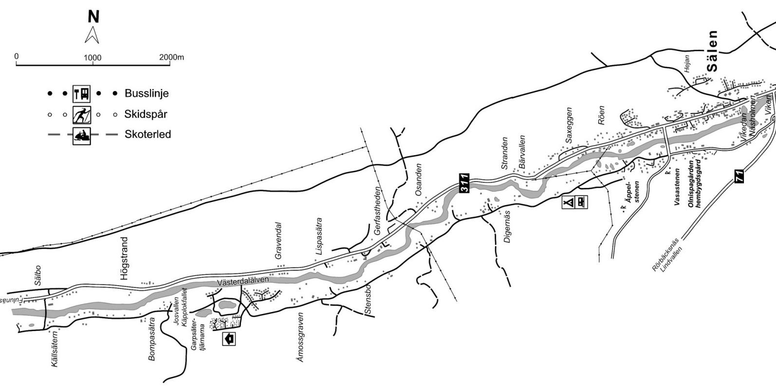 Karta över Högstrand